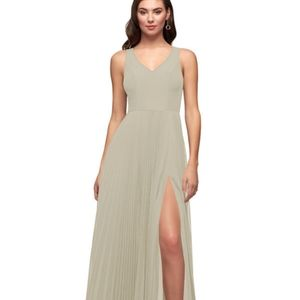 Azazie Lindsey Taupe Bridesmaid Dress